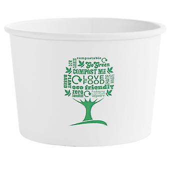Vegware 16oz Green Tree Soup Container