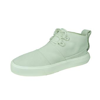 Supra Charles Mens Suede Casual Trainers / Mid Tops - Off White