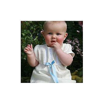 Grace Of Sweden - Christening Gown,  Short Sleeve And 10 Options Of Bow Colour