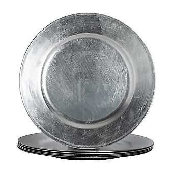 Argon Tableware Round Charger Under Plates in Silver - 330mm - Pack Of 6