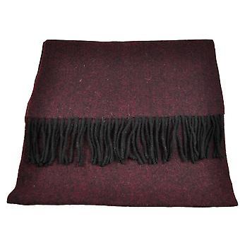 Ties Planet Tresanti Celeste 100% Finest Mongolian Virgin Wool Burgundy & Black Scarf