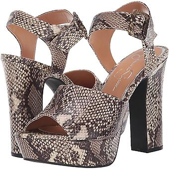 Jessica Simpson Women's Shoes Naenia Fabric Peep Toe Casual Ankle Strap Sandals