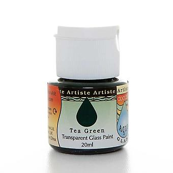 Docrafts Artiste Tea Green Transparent Glass Paint