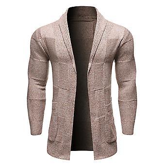 Allthemen Menăs Casual Pulover Cardigan Solid Pocket Elegant tricotate Top Toamna