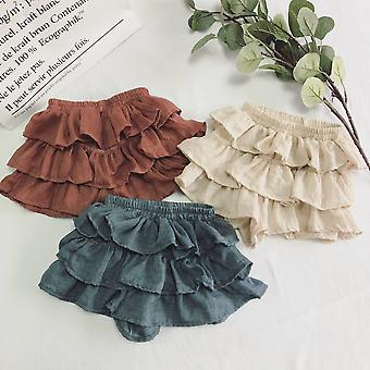 Skirt Shorts Pure Color Thin Cotton Pants For Girls