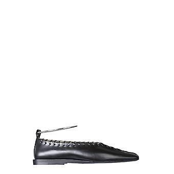 Jil Sander Js30217a12010998 Women's Black Leather Flats