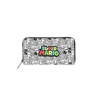 Nintendo - Super Mario Logo Zip Autour portefeuille