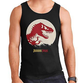 Jurassic Park T Rex Red Skeleton Icon Men's Vest