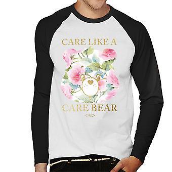 Pflege Bären Pflege wie ein Pflege Bär Männer's Baseball langärmelige T-Shirt