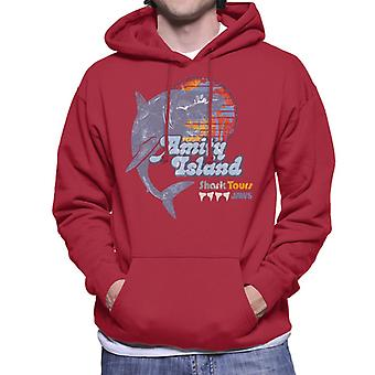 Jaws Amity Island Shark Tours Logo Men's Hooded Sweatshirt