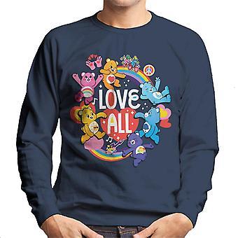Care Bears låse opp den magiske kjærlighet all hvit tekst menn's Sweatshirt