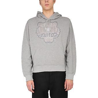 Kenzo Fa65sw3104xj94 Men's Grey Cotton Sweatshirt