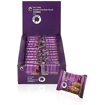 TraidcraFairtrade Fairtrade Double Choc Chunk Cookies 45g (2's) x16