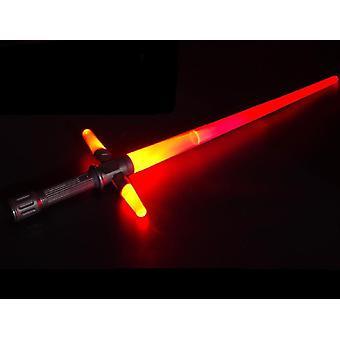Lysende lys sverd -rgb laser, fleksibel, musikalsk leketøy