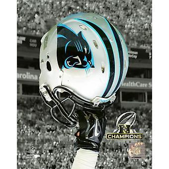 Carolina Panthers 2015 NFC Champions Helm Spotlight Fotoabzüge