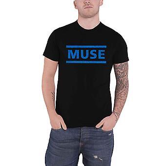 Muse T Shirt Dark Blue Band Logo new Official Mens Black