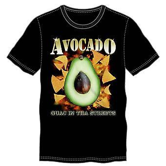 Avacado guac in tha streets men's black t-shirt tee shirt