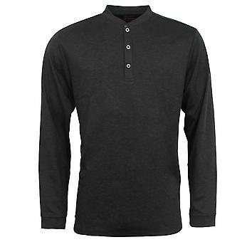 Adidas Taylor 3 Düğme Yukarı Siyah Erkekler Uzun Kollu Golf Tişört B82775 DD25 Yaptı