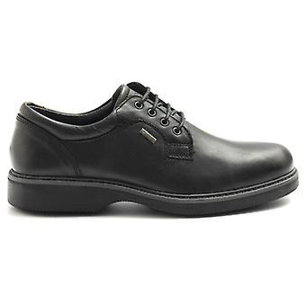 Zapato de hombre Igi&co en cuero negro con Gore-tex y Plantar