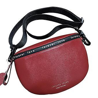 Genuine Leather Crossbody Bags, Famous Brand Female Shoulder Bag, Wide Shoulder