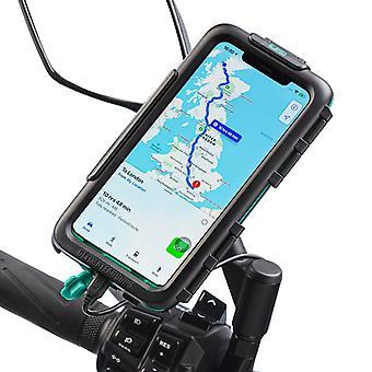Iphone xr scuter oglindă impermeabil greu caz mount