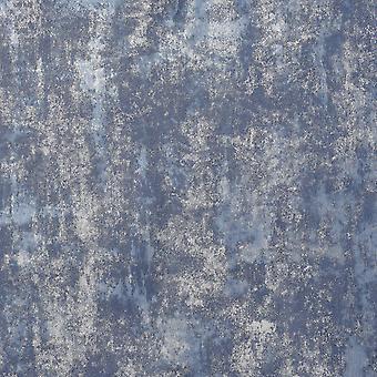 Stein Texturen Tapete Marine / Silber Arthouse 902108