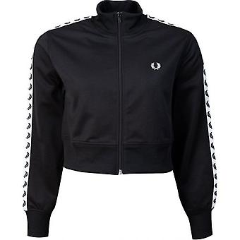 Fred Perry Authentics Cropped Taped Logo Zip Through Jacket