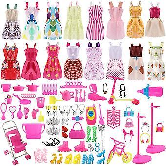 Asanmu doplnky pre bábiky, bábiky oblečenie set pre bábiky oblečenie party šaty sukne bábiky topánky ta