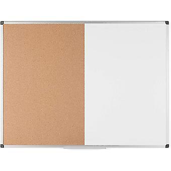 Bi-Office Combination Board Maya, Cork/Magnetic, Aluminium Frame, 90 x 60 cm