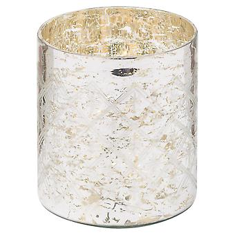 The Noel Collection Foil Pillar Candle Holder