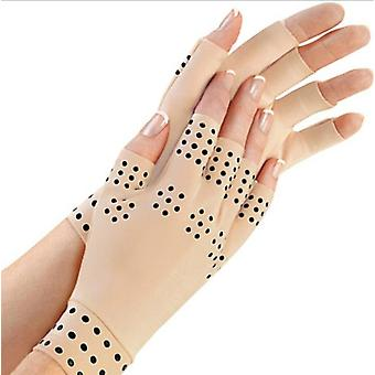 Magnetic Fingerless Gloves Arthritis Pain Relief Heal Joints Braces Supports