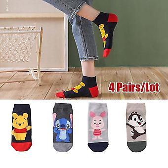 Disney 5 Paare Casual niedlich Ecartoon Tier unsichtbar Knöchel Baumwolle Socke