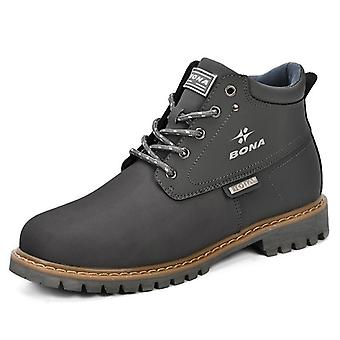 Spring  And Autumn Boots & Split Leather Men Casual Fahsion Ankle Boots Outdoor