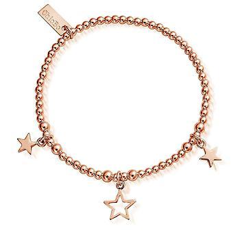 ChloBo Rose Gold Triple Star Bracelet RBSB1066802