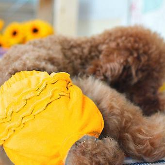 Pet Dog Panty Brief Sanitary Pants Clothing Pet Supplies, Size:M(Yellow)