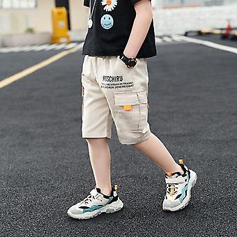 Baby Casual Solid Color Elastic Waist Pants Kids Trousers