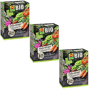 Sparset: 3 x COMPO BIO Природные удобрения Гуано, 3 кг