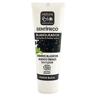 NaturaBIO Cosmetics Dentífrico Blanqueador Menta bio & Carbón activo sin fluor 75 ml
