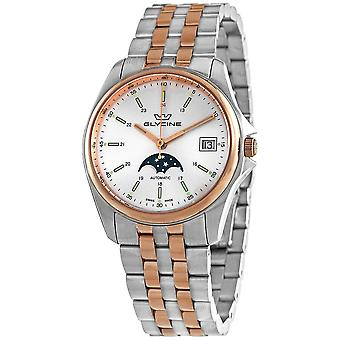 Glycine Combat Classic Moonphase Automatic Silver Dial Men's 36 mm Watch GL0194