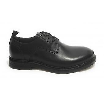 حذاء رجالي طموح 11071 Francesina Leather Lace Black U21am26