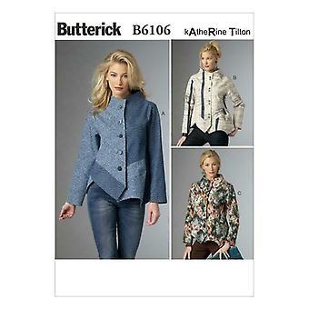 Butterick نمط الخياطة 6106 يفتقد غير المتماثلة الرقعة سترة 4-14 UC