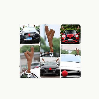 Bil ferie reinsdyr gevir og rød nese auto dekorasjon kit