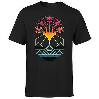 Magic The Gathering Colour Linework Design Men's Short Sleeve T-Shirt - Black
