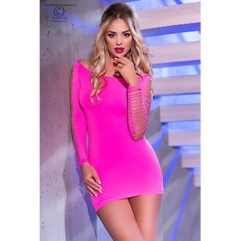 Varratmentes mini ruha CR3608 rózsaszín