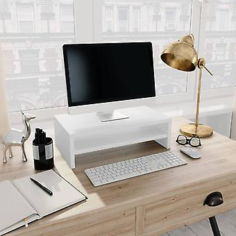 vidaXL Monitor Stand Valkoinen 42×24×13 cm Lastulevy