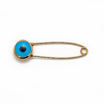 Lucky Eye Blue Turkse Evil Eye Broche Pin / mannen
