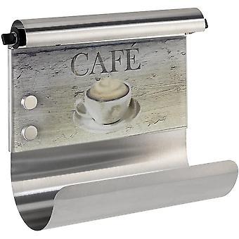 FengChun Magnetischer Rollenhalter Café - mit Folienspender, Gehärtetes Glas, 35 x 29 x 14,5 cm,
