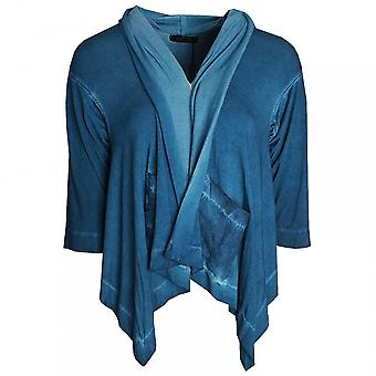 Latte Long Sleeve Roll Collar Denim Jacket