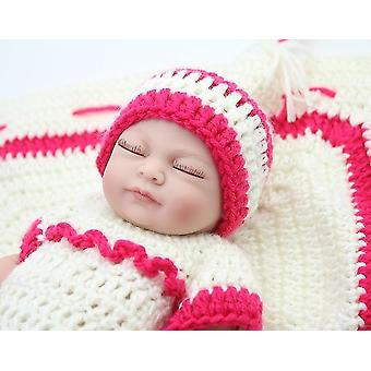Real looking newborn baby girl doll pl-1024