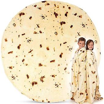 Burritos Tortilla Hot Blanket Pizza Food Throw Blanket Soft Flannel Pancake Blanket Double Sided